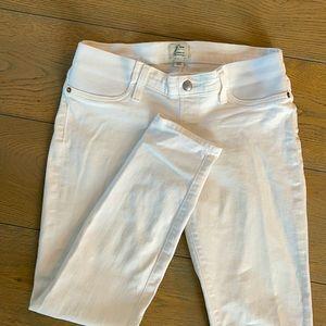 Jcrew white maternity jeans